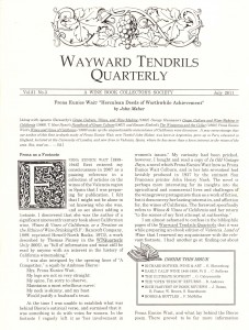 Wayward Tendrils Quarterly, July 2011